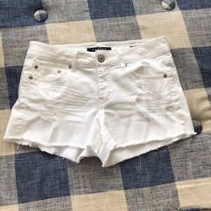 Mid rise distressed shorts from Francesca's
